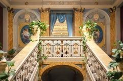内部历史的宫殿,希克利,西西里岛,意大利 库存照片