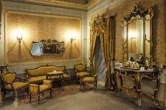 内部历史的宫殿,希克利,西西里岛,意大利 免版税库存照片