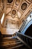 内部古色古香的房子 16世纪 步骤 免版税库存照片