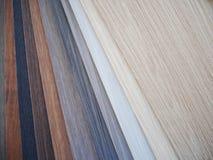 内部和家具设计的木样品 库存照片