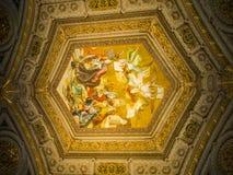 内部和梵蒂冈的建筑细节 图库摄影