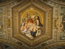 内部和梵蒂冈的建筑细节 库存照片