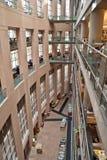 内部图书馆公共温哥华 库存照片