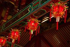 内部图阿Pek孔中国人寺庙 民都鲁市,婆罗洲,沙捞越,马来西亚 免版税图库摄影