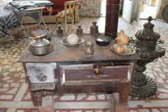 内部土耳其村庄,古董和罕见 库存图片