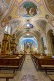 内部在一个教会里在市佩奇匈牙利, (教会St Franci 库存图片