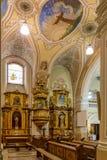 内部在一个教会里在市佩奇匈牙利, (教会St Franci 库存照片