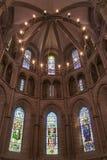 内部在新教徒的教会里 日内瓦 库存图片
