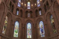 内部在新教徒的教会里 日内瓦 免版税库存照片