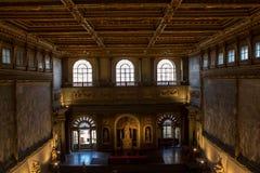 内部在Palazzo Vecchio老宫殿佛罗伦萨,托斯卡纳, Ital 库存照片