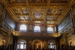 内部在Palazzo Vecchio老宫殿佛罗伦萨,托斯卡纳, Ital 免版税库存照片