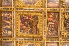 内部在Palazzo Vecchio老宫殿佛罗伦萨,托斯卡纳, Ital 免版税库存图片