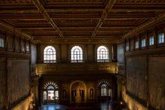 内部在Palazzo Vecchio老宫殿佛罗伦萨,托斯卡纳, Ital 图库摄影