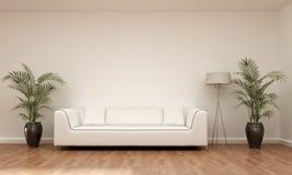 内部场面沙发 免版税库存照片