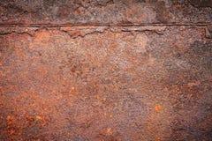 内部外部装饰的生锈的金属纹理背景 免版税图库摄影