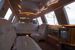 内部大型高级轿车 免版税图库摄影