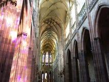 内部大教堂在布拉格, 2017年8月17日 免版税库存图片
