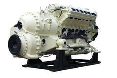 内部大的燃烧引擎 库存照片