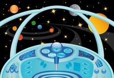 内部太空飞船 向量例证