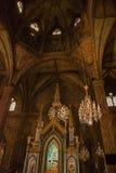 内部宽容大教堂 马尼拉菲律宾 库存图片