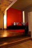 内部居住的现代房间 库存图片