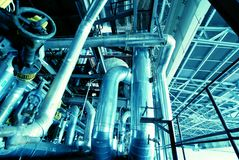 内部工厂处理水 库存图片