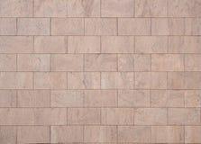 内部或外墙的桃红色花岗岩块 免版税库存图片