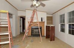 内部改造活动房屋 免版税库存图片