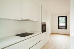 内部新房,厨房 库存图片