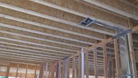 内部构筑的射线新房建设中家构筑 影视素材