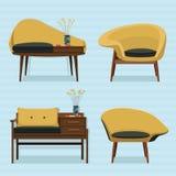 内部沙发设计 图库摄影