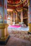 内部泰国佛教寺庙 库存图片