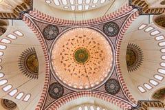 内部清真寺suleymaniye 免版税库存图片