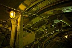 内部潜水艇 库存图片