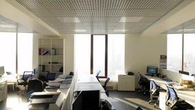 内部现代办公室 一个现代办公室的内部 影视素材