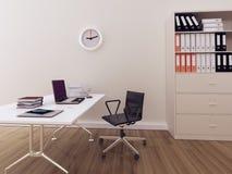 内部现代办公室 库存图片