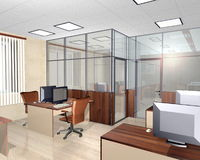 内部现代办公楼 图库摄影