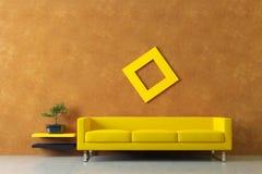 内部现代灰泥威尼斯式墙壁 库存图片