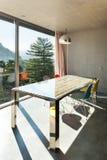内部现代房子,餐厅 图库摄影