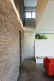 内部现代房子,细节 免版税图库摄影
