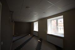 内部的办公室,现代建筑 库存照片