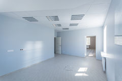 内部的办公室,现代建筑 库存图片