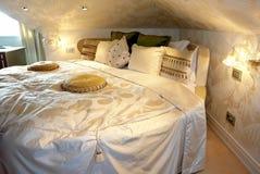 内部的卧室。 免版税库存图片