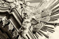 内部的片段圣玛丽的教会(Marienkirche) Alexanderplatz的 免版税库存图片