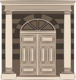内部的葡萄酒门。 免版税库存照片
