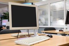 内部监控程序办公室屏幕 库存照片