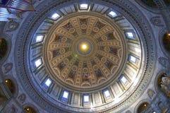 内部看法大理石教会(弗雷德里克的教会) 免版税库存照片