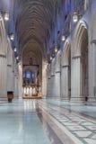 内部看法,全国大教堂,华盛顿特区, 免版税库存照片