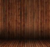 内部空间铺磁砖木头 免版税库存图片
