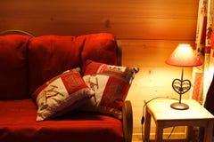 内部红色温暖 免版税图库摄影